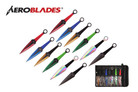 "9"" 12 Pcs Set Assorted Color Throwing Knife with 2 Tone Blade Kunai Thrower"