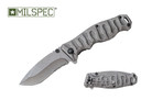 "Milspec 8"" Assisted Open Knife with Stone Finished Stainless Steel Handle - PML11"