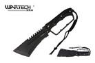 "15.5"" Tactical Equlizar Hunting Machete Black Knuckle Handle"