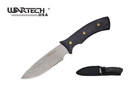 "10"" Full Tang Stonewash Blade Hunting Knife with Wood Handle"
