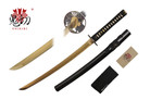 "32"" Japanese Sword Wakizashi 1045 Gold Carbon Steel with Black Scabbard"