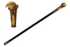 "36"" Bold Eagle Head Handle Steel Shaft Fantasy Walking Stick Gentleman's Cane"