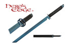 1 PC Full Tang Blue Blade Straight Ninja Sword with Musashi Tsuba