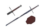 "41"" Chivalry Crusader Knight Sword with Plaque"