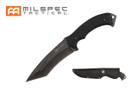 """10.5"""" Stonewashed Blade w/ Black G10 Handle Knife"""