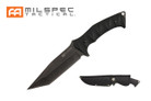 """10.5"""" Stonewashed Blade Knife w/ Black G10 Handle"""