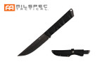 "10"" Stonewashed Drop Point Blade w/ Black G10 Handle Knife"