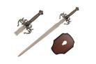 """41"""" Fantasy Dagon Sword w/ Wooden Plaque"""