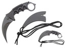 "8"" Military Tactical Karambit Hunting Skinner Hawkbill Neck Knife Claw - Black"