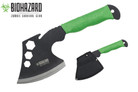 Biohazard Tools Throwing Axe with Neon Green Paracord