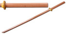 "39"" Wooden Samurai Sword (Bokken) No Wrap on the Handle"