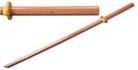 """39"""" Wooden Samurai Sword (Bokken) No Wrap on the Handle"""