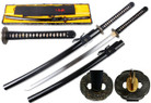 "41 1/2"" 1095 Hand Forge Ryujin Samurai Sword Fugaku Tsuba. Shinogidukuri Blade Real Ray Skin Handle Wrapped with Cotton Cord"