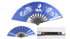 "13 1/2"" X 26"" Steel Blue Kung Fu Fan"