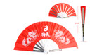 "13 1/2"" X 26"" Steel Red Kung Fu Fan"