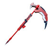 "53"" Rwby Ruby Crescent Rose the High Velocity Sniper-scythe Replica Wood Cosplay"