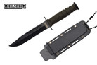 Marine Black Survival Combat Knife Letter Opener with Sheath