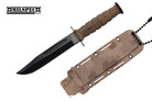 Marine Dirt Camo Survival Combat Knife Letter Opener with Sheath