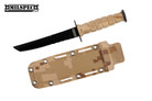Marine Dirt Camo Survival Combat Tanto Knife Letter Opener with Sheath