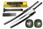 "41 1/2"" Hand Forged Samurai Katana 1095 High Carbon Steel Shinogi Zukuri Blade Real Hamon & Temper Line"