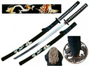 "41"" Samurai Sword w/ Zinc Dragon Tsuba & Dragon Graphics"