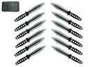 12 Piece Tornado Throwing Knives Black Knife Set Ninja Martial Arts Weapon NEW
