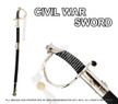 CSA Cavalry Saber Civil War Officer Sword Chrome