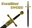 "47"" Excalibur Medieval Crusader Knight Long Sword With Sheath"