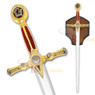 "45"" Fraternal Masonic Templar Knight Sword Freemasonry"