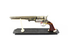 Western Cowboy Black Powder Outlaw Revolver Pistol Replica Gun w/ Stand