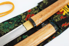 Wooden Shirasaya Carbon Steel Handmade Japanese Katana Sword with Razor Sharp Blade