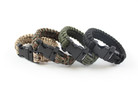 "10"" Paracord Bracelet / Emergency Whistle - Green Camo"