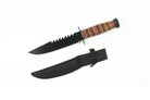 "12"" Hunting Tactical Knife Leather Handle with Sheath"