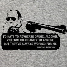 Hunter S Thompson, Gonzo journalism T shirt