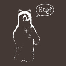 Bear Hug? funny killer embrace t shirt - BlackSheepShirts