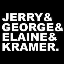 Jerry & George & Elaine & Kramer Seinfeld inspired t Shirt
