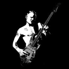 Flea T shirt Red Hot Chili Peppers Bass god