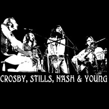 Crosby, Stills, Nash & Young T shirt  Déjà Vu Neil Young BlackSheepShirts