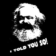 Karl Marx - I told you so T Shirt BlackSheepShirts