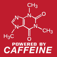 Caffeine Molecule T Shirt Powered by coffee!