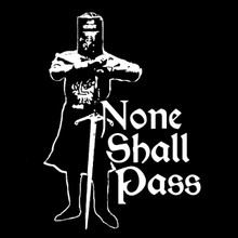 Black Knight T Shirt None Shall Pass Monty Python and the Holy Grail