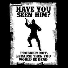 Funny Ninja T Shirt - Have you seen him?