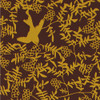 Gift Wrap - Swallow - Yellow on Brown