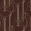 Gift Wrap - Guitars - Brown