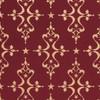 Gift Wrap - Etoile - Gold on Maroon