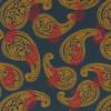 Gift Wrap - Paisley - Midnight Blue