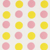 Gift Wrap - Dots - Yellow & Pink on White