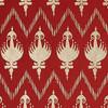 Gift Wrap - Ikat - Red/Metallic Gold