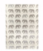 Gift Wrap - Elephant - Cream/Metallic Silver