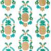 Gift Wrap - Floral Pineapple - White/Green/Metallic Gold